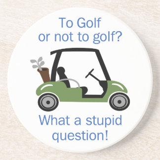 Au golf ou pas dessous de verre en grès