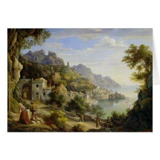 Au Golfe de Salerno, 1826 Carte De Vœux