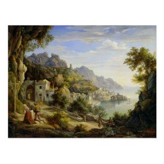Au Golfe de Salerno, 1826 Carte Postale