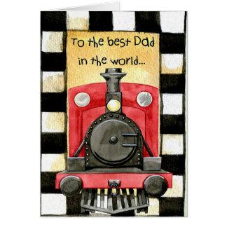 Au meilleur papa carte de vœux