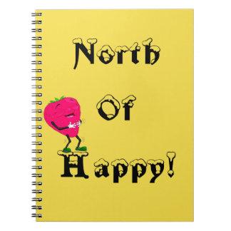 Au nord du journal heureux de fraise de carnet