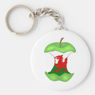 """""""au noyau"""" Pays de Galles Porte-clé Rond"""