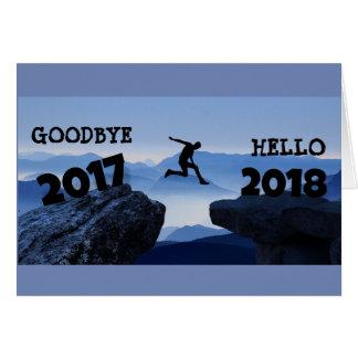 Au revoir 2017 bonjour cartes de 2018 bonnes