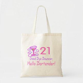 Au revoir barman du videur 21 bonjour (rose) sac en toile