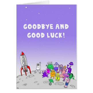 Au revoir et bonne chance carte de vœux