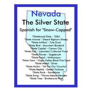Au sujet du Nevada Carte Postale