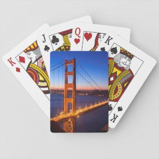 Aube au-dessus de pont de San Francisco et de Gold Jeu De Cartes