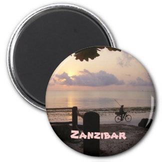 Aube de Zanzibar Magnet Rond 8 Cm