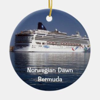 Aube norvégienne, aube norvégienne, Bermudes Ornement Rond En Céramique