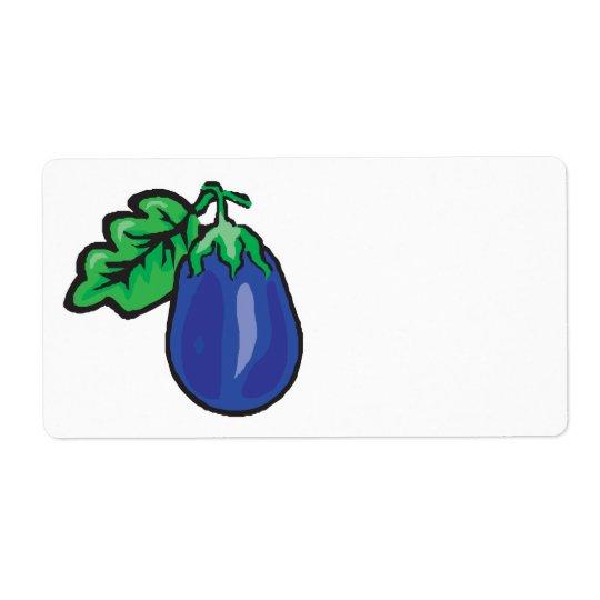 aubergine de bande dessinée étiquettes d'expédition