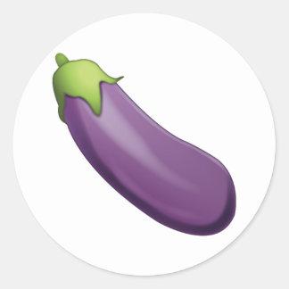 Aubergine - Emoji Sticker Rond
