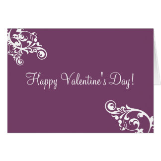 Aubergine et carte de Saint-Valentin de Flourish