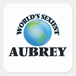 Aubrey le plus sexy du monde stickers carrés