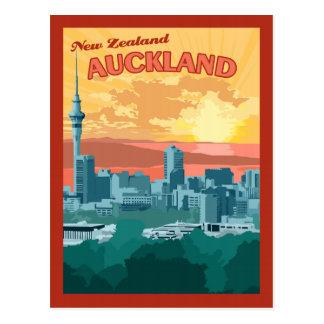 Auckland Nouvelle Zélande - carte postale vintage