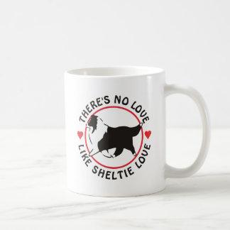 Aucun amour n'aiment l'amour de Sheltie Mug