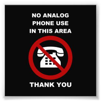 Aucun analogue ne téléphone le Merci Photo Sur Toile