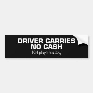 Aucun argent liquide (hockey de jeu d'enfants) autocollant pour voiture