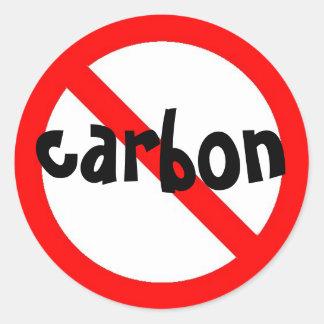 aucun autocollant de carbone