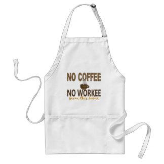 Aucun café aucun Baker de Workee Tablier