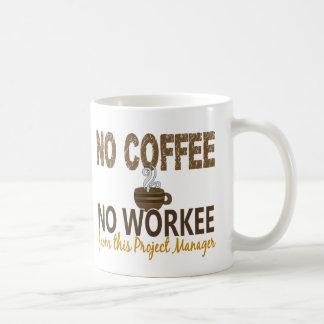 Aucun café aucun chef de projet de Workee Mug