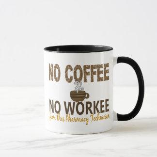 Aucun café aucun technicien de pharmacie de Workee Mug