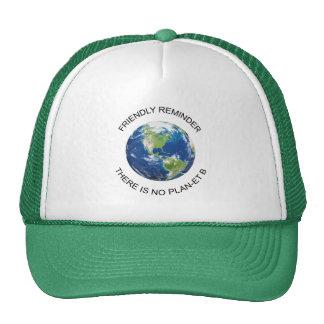 Aucun casquette de la terre du plan B