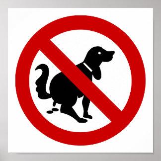 AUCUN chien encrassant le ⚠ thaïlandais de signe Affiches