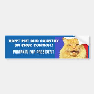 Aucun contrôle de Cruz - citrouille pour le Autocollant Pour Voiture