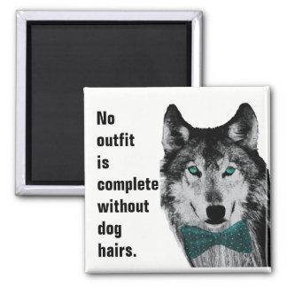 Aucun équipement n'est complet sans poils de chien magnet carré