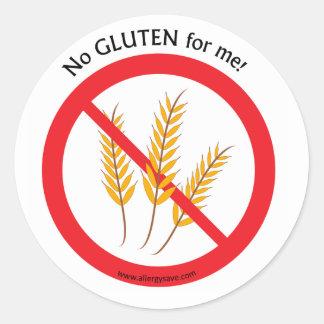 """""""Aucun gluten pour moi"""" étiquette"""