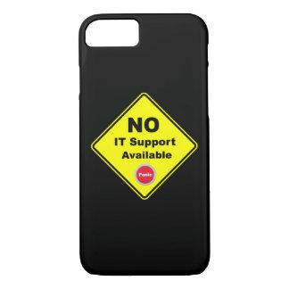 Aucun IL panneau d'avertissement jaune disponible Coque iPhone 8/7
