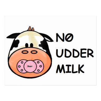 Aucun lait de mamelle carte postale