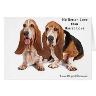 aucun meilleur amour que l'amour de basset carte de vœux