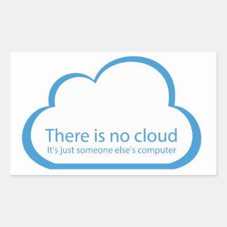 Aucun nuage sticker rectangulaire