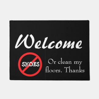 Aucun paillasson de maison de chaussure