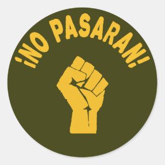 Aucun Pasaran - ils ne passeront pas Sticker Rond