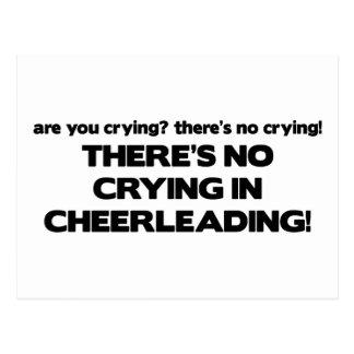 Aucun pleurer - Cheerleading Carte Postale