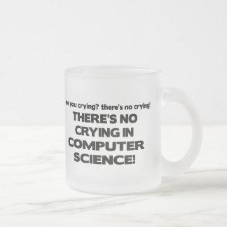 Aucun pleurer dans de l'informatique mug en verre givré