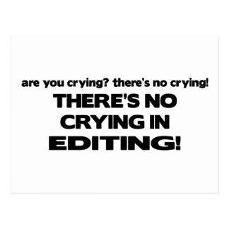 Aucun pleurer dans l'édition carte postale