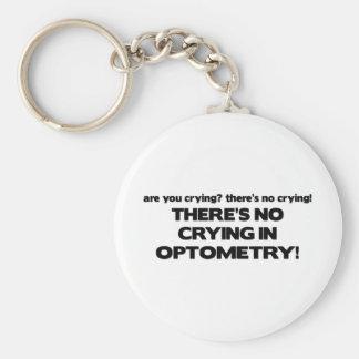 Aucun pleurer en optométrie porte-clé rond
