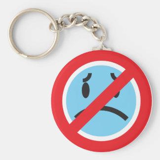 Aucun porte - clé de froncements de sourcils porte-clé rond