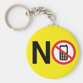 Aucun porte - clé de zone de téléphone porte-clé rond