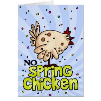 aucun poulet de ressort carte de vœux