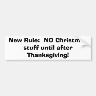 Aucun premier adhésif pour pare-chocs de Noël Autocollant Pour Voiture