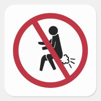 Aucun signe de péter, Thaïlande Sticker Carré