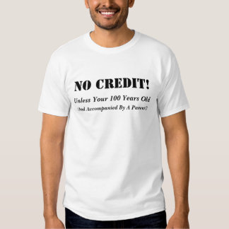 Aucun T-shirt de crédit