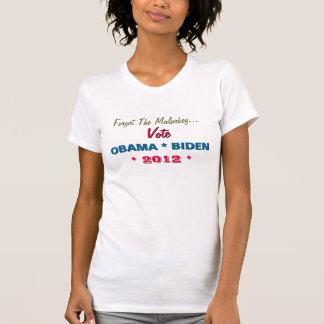 Aucun T-shirt d'OBAMA BIDEN de vote de bêtises