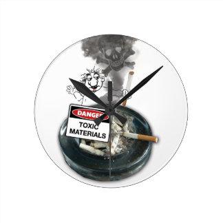 AUCUN tabagisme d'arrêt d'EXCUSES Horloge Ronde