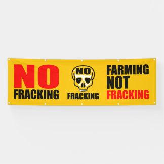 Aucune bannière 2,5' de Fracking x 8' pi