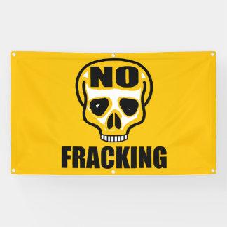 Aucune bannière 3' de crâne de Fracking x 5' pi